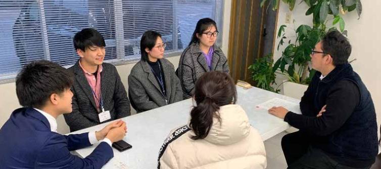 東洋大学留学生のインターンシップを実施しました。